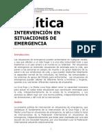 Política Intervención en Situaciones de Emergencia