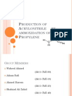 Production of Acrylonitrile by Ammoxidation of Propylene