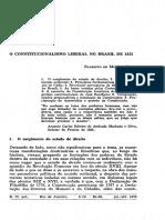 O Constitucionalismo Liberal de 1823