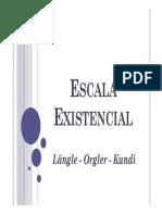 Escala Existencial