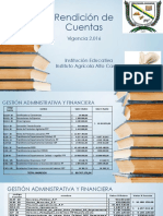 Rendición de Cuentas Alto Cauca 2.016