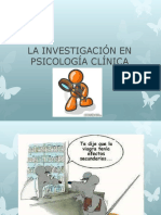 La Investigacion en Psicologia Clinica