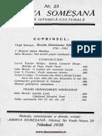 Arhiva someşană - Revistă istorică-culturală, 15, nr. 23, 1938