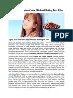 Situs Judi Domino Ceme Minimal Betting Dua Ribu