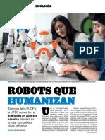 Robots que humanizan