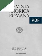 Revista istorică română, vol. 01, fasc. 1, 1931