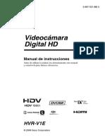 Instrucc. de Camara HVR-V1E