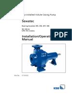 Installation Operating Manual Sewatec