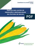 Análise Dos Custos de Produção e Rentabilidade Da Cultura Do Milho