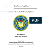 ATF White Paper Options to Reduce or Modify