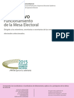 Instructivo Mesa Electoral Parlamenterias