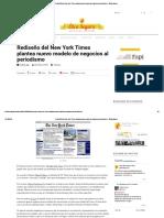 Rediseño Del New York Times Plantea Nuevo Modelo de Negocios
