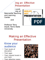 Presentation on Making an Effective Presentation 2015