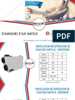 Choisissez votre échangeur d'air Fantech