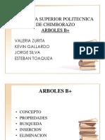 ARBOLES B+(grupo 3)