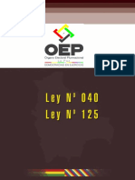 4 Ley N° 040; Ley N° 125
