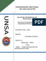 Caracterizacion de Microestructuras 1020