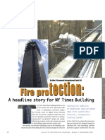 Fire Protection a Headline Story for NY Times Building