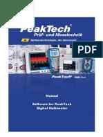 PeakTech DMM Tool Manual En