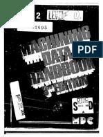 Machining Data Handbook