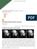 (Paul Veyne) O Último Foucault e Sua Moral _ IntensidadeZ