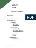 La Physiologie de La Digestion Dr Guedjati