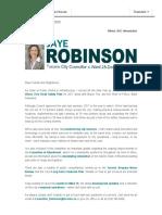 Councillor Robinson's Winter 2017 eNewsletter