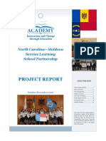 North Carolina-Moldova Service Learning School Partnership Project Report 2016