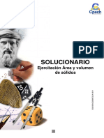 Solucionario Cuadernillo Área y Volumen de Solidos 2016