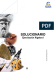 Solucionario Cuadernillo Álgebra I 2016