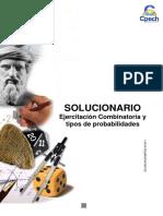 Solucionario Cuadernillo Combinatoria y Tipos de Probabilidades 2016