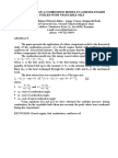 Application of a Combustion Model to a Diesel Engine Fueled With Vegetable Oils
