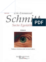 Eric- Emmanuel Schmitt- Secta Egoistilor