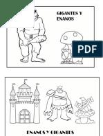 FICHAS Y DIBUJOS. INFANTIL. Gigantes y Enanos
