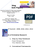 Writing Excellent Papers 2014 (ASPA)