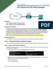 9.2.1.6 Lab - Using Wireshark to Observe the TCP 3-Way Handshake