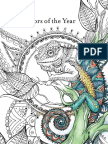 Colors of the Year Coloring Book