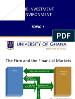 Topic 1 the Investment Environment