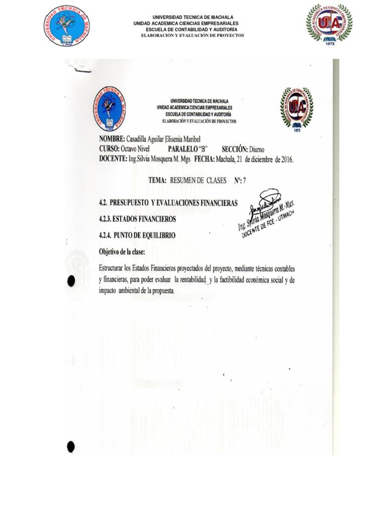 Vistoso Objetivos De Resumen Contable Molde - Colección De ...