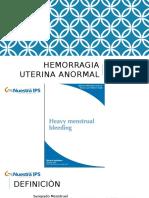 Hemorragia uterina anormal guìas NICE.pptx