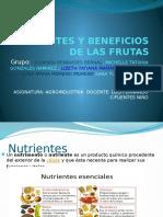 Nutrientes y Beneficios de Las Frutas (1)