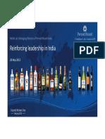 Pernod Ricard India Presentation