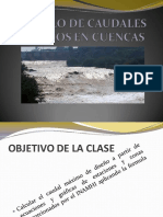 11. Calculo de Caudales Máximos en Cuencas