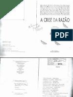 Crise Da Razao  - Adauto Novaes Org