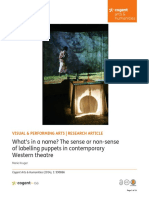 What's in a name? The sense or non-sense of labelling puppets in contemporary Western theatre