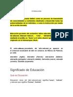 Introduccion a Los Fundamentos de La Educacion