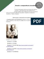 A Sonata No Brasil e Compositores Brasileiros