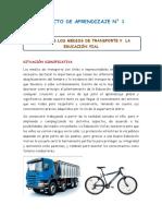 Proyecto Valoremos Los Medios de Transporte y La Educación Vial