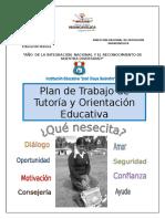 Plan de Trabajo de Tutoría y Orientación