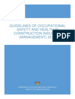 Guidelines of OSH in CI Management